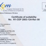 EU Certificate of suitability