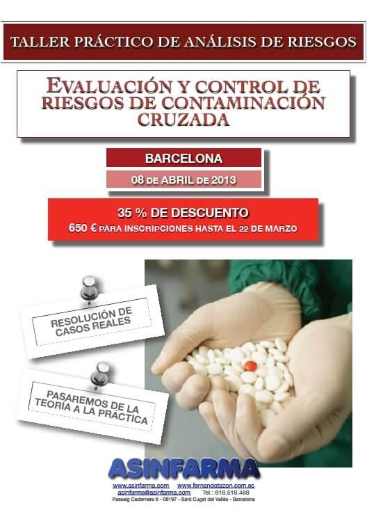 TALLER 100% PRÁCTICO: Control de Riesgos de Contaminación Cruzada