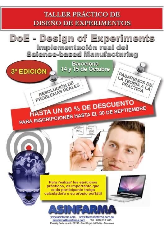 TALLER 100% PRÁCTICO: DoE – Diseño de Experimentos