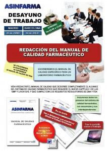Redacción del Manual de Calidad Farmacéutico