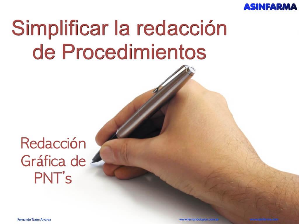 Simplificar la redacción de procedimientos