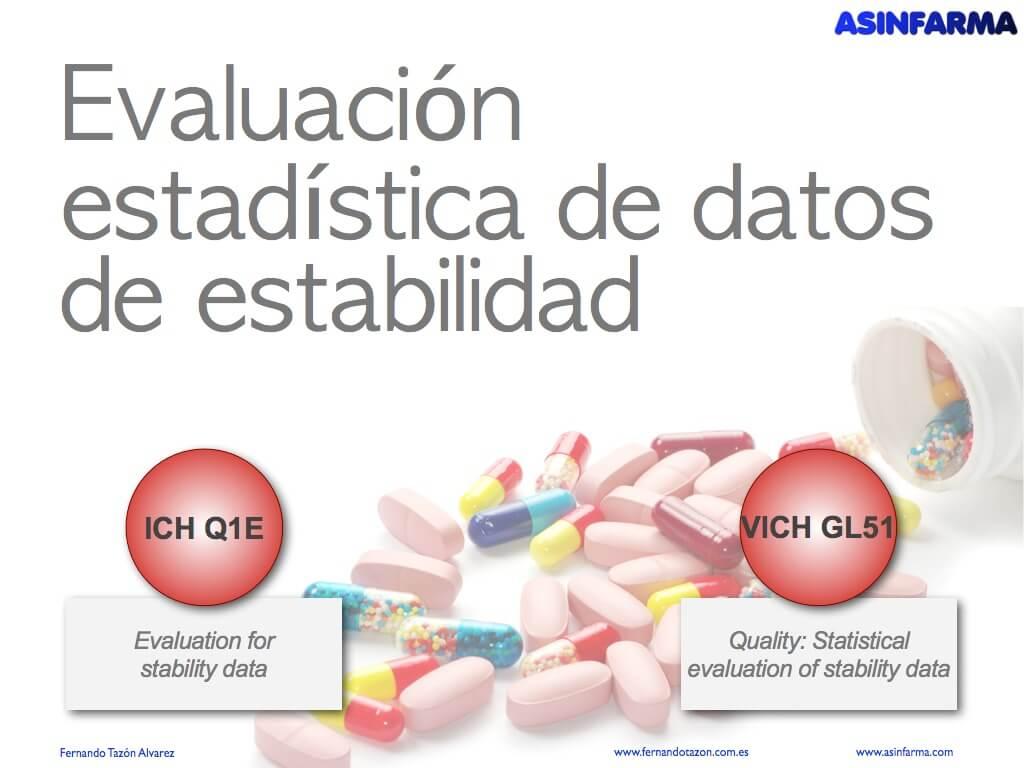 Evaluación estadística de datos de estabilidad
