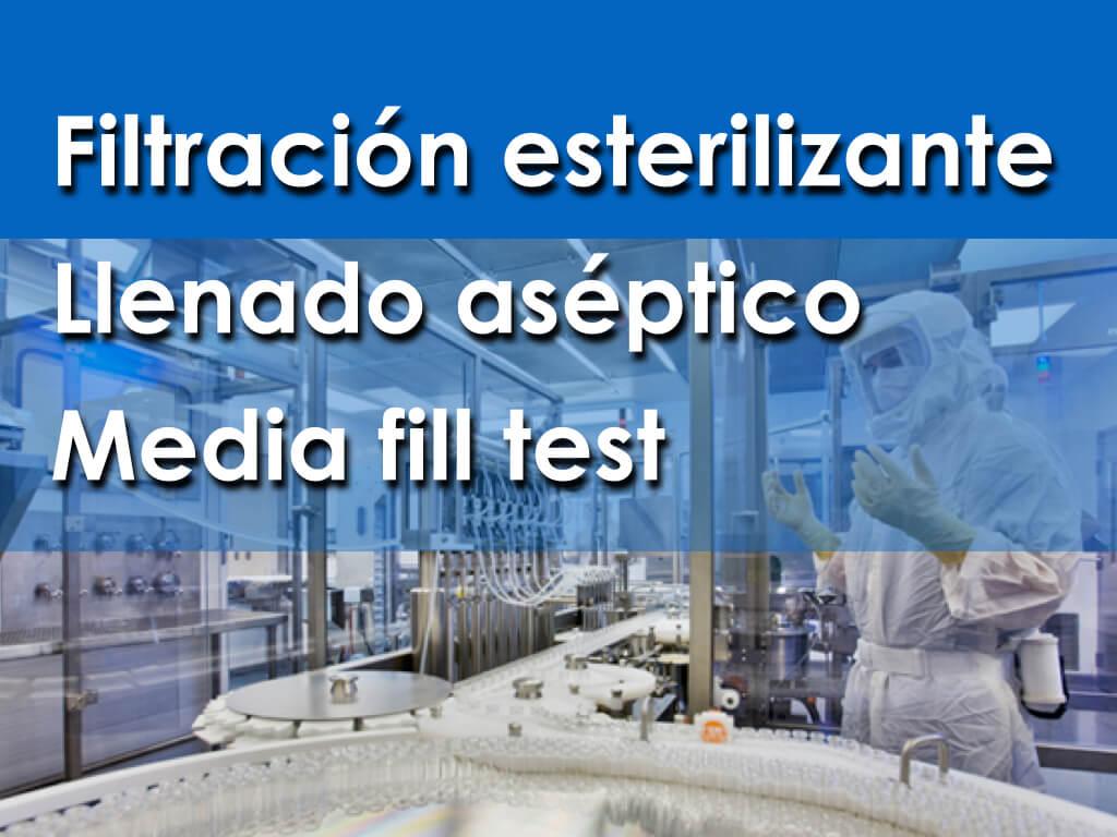 Filtración esterilizante y llenado aséptico