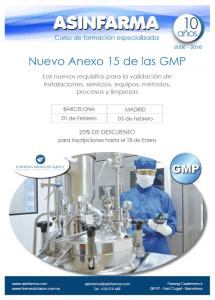 Programa Anexo 15 GMP EU