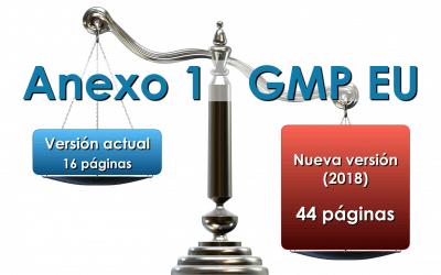 Nueva versión del Anexo 1 de las GMP EU