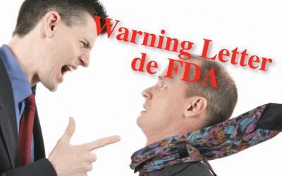 Las falta de ensayos de identificación genera una Warning Letter de FDA