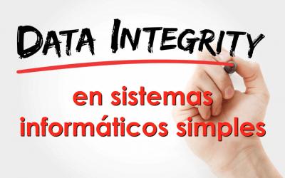 ¿Es necesario regular la integridad de datos en sistemas informáticos simples?