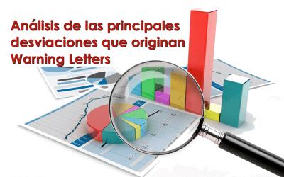 Análisis de las principales desviaciones que originan Warning Letters