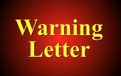 Warning Letter por fallos en los ensayo de APIs