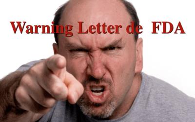 Warning Letter por partículas extrañas en solución oral