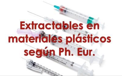 Extractables en material plástico según Ph. Eur.